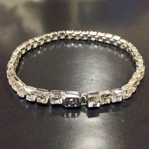 Tommy Hilfiger Tennis Bracelet Silvertone